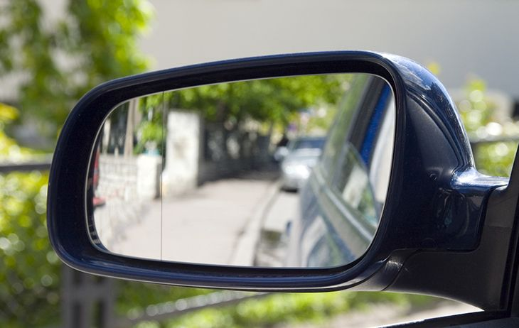 Clear Driver's Side Mirror