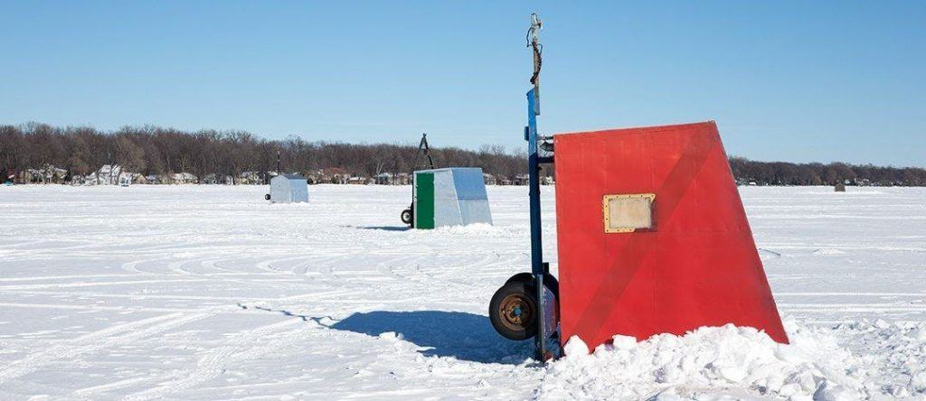 Temporary or permanent ice shanty