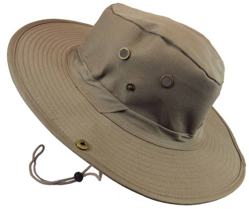 The traditional wide-brim fishing hat