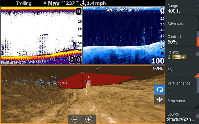 color screen fishfinder