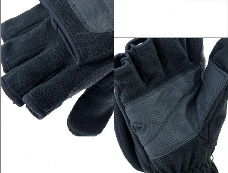 Fleece fishing gloves
