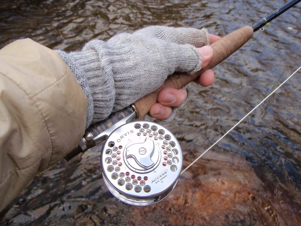 Wool fishing gloves