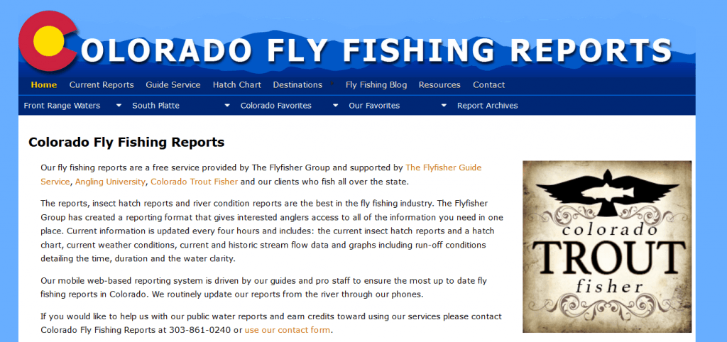 Colorado Fly Fishing Reports