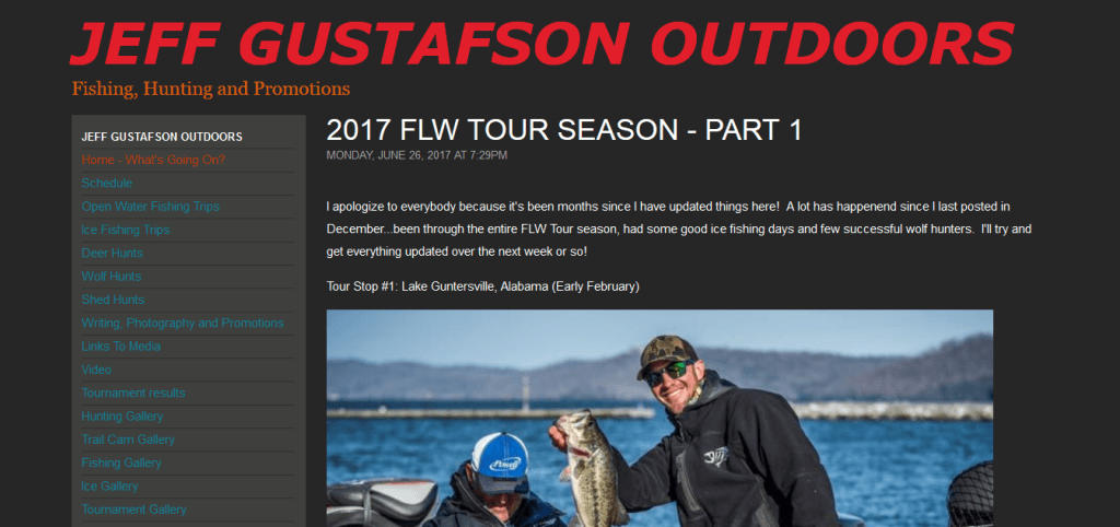 Jeff Gustafson Outdoors