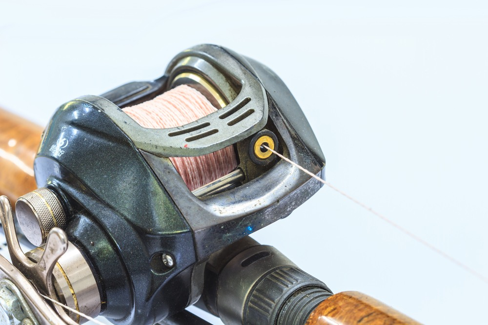 close up Baitcasting reel