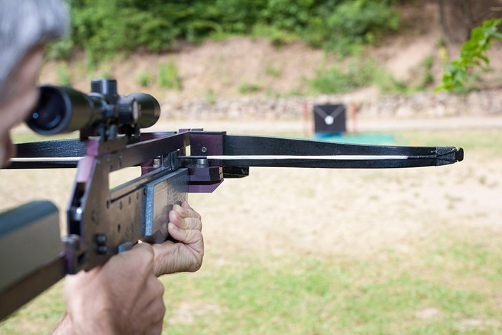 Targeting With A Scoped Crossbow